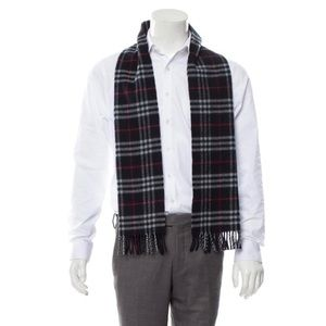 Burberry Navy Nova Check Scarf